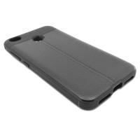 """Чехол для Xiaomi Redmi 4X из ТПУ с текстурой """"под кожу"""" серый"""