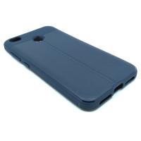 """Чехол для Xiaomi Redmi 4X из ТПУ с текстурой """"под кожу"""" navy"""