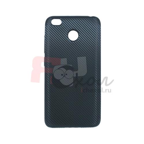 Чехол для Xiaomi Redmi 4X из ТПУ карбон черный