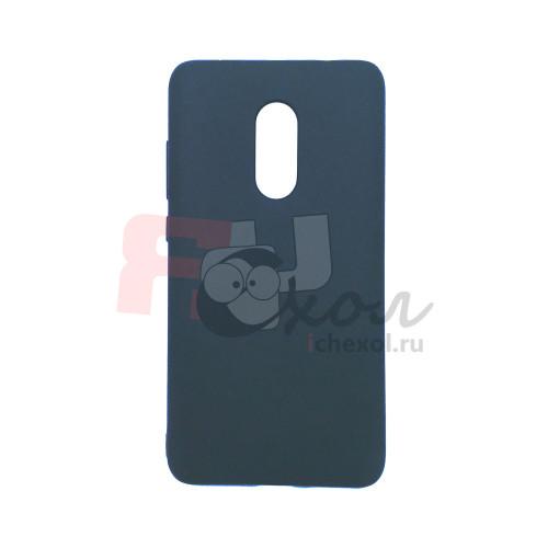 Чехол для Xiaomi Redmi Note 4 из ТПУ матовый черный