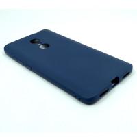Чехол для Xiaomi Redmi Note 4X  из ТПУ матовый синий
