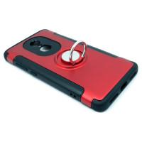 Чехол для Xiaomi Redmi Note 4X из ТПУ и пластика с кольцом красный