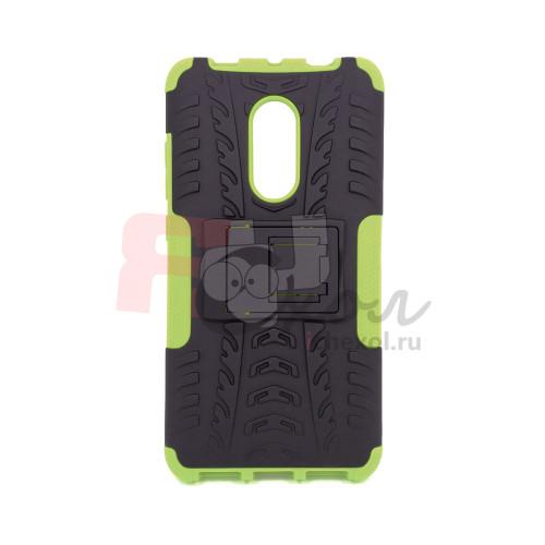 Чехол для Xiaomi Redmi Note 4X из ТПУ и пластика противоударный зеленый