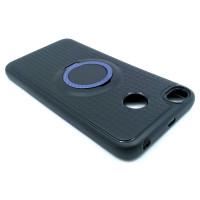 Чехол для Xiaomi Redmi 4X  с пластиковым фиолетовым кольцом и металлической пластиной