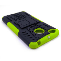Чехол для Xiaomi Redmi 4X из ТПУ и пластика противоударный зеленый