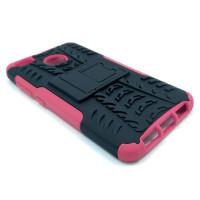 Чехол для Xiaomi Redmi 4X из ТПУ и пластика противоударный розовый