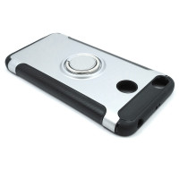 Чехол для Xiaomi Redmi 4X  из ТПУ и пластика с кольцом серебро