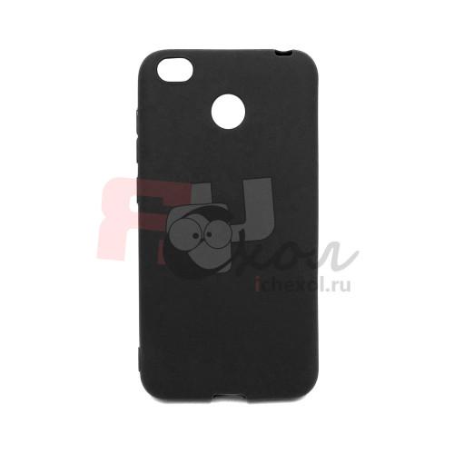 Чехол для Xiaomi Redmi 4X  из ТПУ  матовый черный
