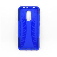 Чехол для Xiaomi Redmi 5 из ТПУ-резины и пластика противоударный синий