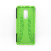 Чехол для Xiaomi Redmi 5 из ТПУ-резины и пластика противоударный зеленый