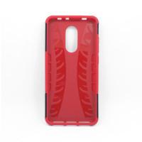 Чехол для Xiaomi Redmi 5 из ТПУ-резины и пластика противоударный красный