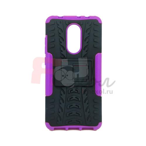 Чехол для Xiaomi Redmi 5 из ТПУ-резины и пластика противоударный фиолетовый
