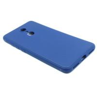 Чехол для Xiaomi Redmi 5 из ТПУ-резины матовый синий