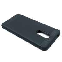 Чехол для Xiaomi Redmi 5 из ТПУ стилизованный под карбон черный