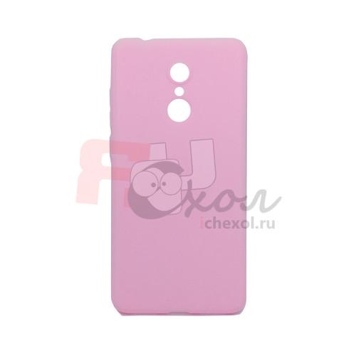 Чехол для Xiaomi Redmi 5 из ТПУ-резины матовый розовый