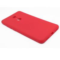 Чехол для Xiaomi Redmi 5 из ТПУ-резины матовый красный