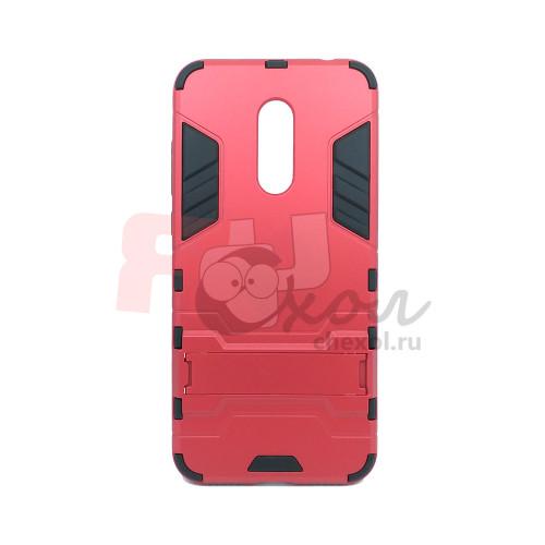 Чехол для Xiaomi Redmi 5 Plus из ТПУ и пластика Ironman2 (Железный человек) красный