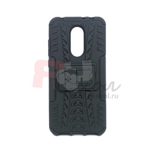 Чехол для Xiaomi Redmi 5 Plus из ТПУ-резины и пластика противоударный черный