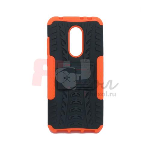 Чехол для Xiaomi Redmi 5 Plus из ТПУ-резины и пластика противоударный оранжевый