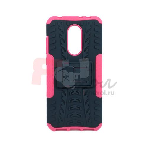 Чехол для Xiaomi Redmi 5 Plus из ТПУ-резины и пластика противоударный розовый