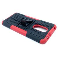 Чехол для Xiaomi Redmi 5 Plus из ТПУ-резины и пластика противоударный красный