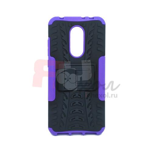 Чехол для Xiaomi Redmi 5 Plus из ТПУ-резины и пластика противоударный фиолетовый