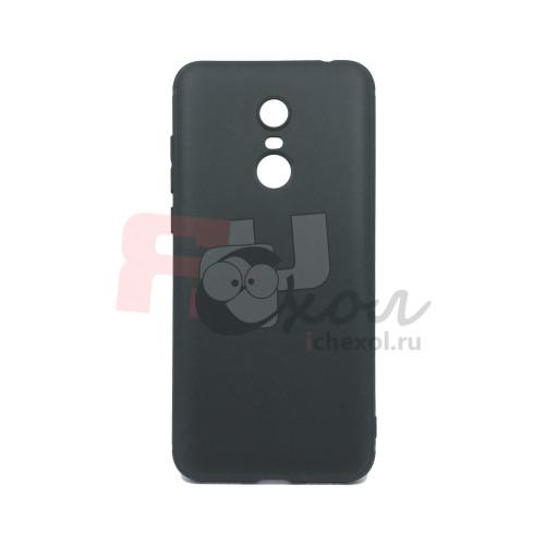 Чехол для Xiaomi Redmi 5 Plus из ТПУ-резины матовый черный