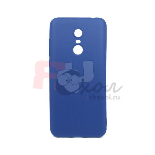 Чехол для Xiaomi Redmi 5 Plus из ТПУ-резины матовый синий