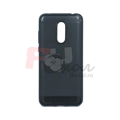 Чехол для Xiaomi Redmi 5 Plus из ТПУ стилизованный под карбон черный