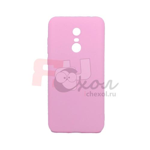 Чехол для Xiaomi Redmi 5 Plus из ТПУ-резины матовый розовый