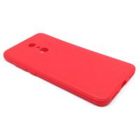 Чехол для Xiaomi Redmi 5 Plus из ТПУ-резины матовый красный