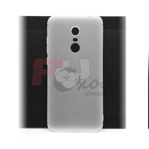 Чехол для Xiaomi Redmi 5 Plus из ТПУ-резины матовый белый