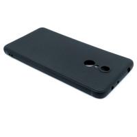 Чехол для Xiaomi Redmi 5 из ТПУ-резины матовый черный