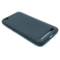 """Чехол для Xiaomi Redmi 5A  из ТПУ-резины """"под карбон"""" черный"""