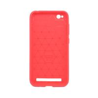 """Чехол для Xiaomi Redmi 5A  из ТПУ-резины """"под карбон"""" красный"""