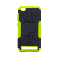 Чехол для Xiaomi Redmi 5A из ТПУ и пластика противоударный зеленый