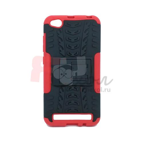 Чехол для Xiaomi Redmi 5A из ТПУ и пластика противоударный красный