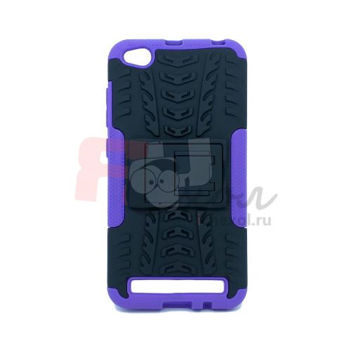 Чехол для Xiaomi Redmi 5A из ТПУ и пластика противоударный фиолетовый