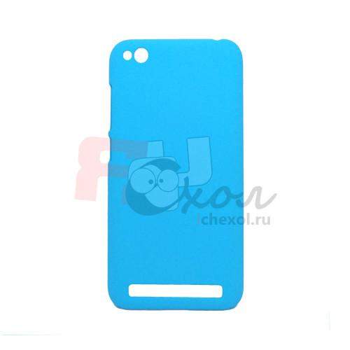 Чехол-накладка для Xiaomi Redmi 5A из прорезиненного пластика голубой