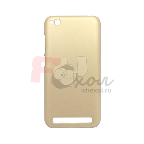 Чехол-накладка для Xiaomi Redmi 5A из прорезиненного пластика золото