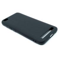 Чехол для Xiaomi Redmi 5A  из ТПУ-резины матовый черный