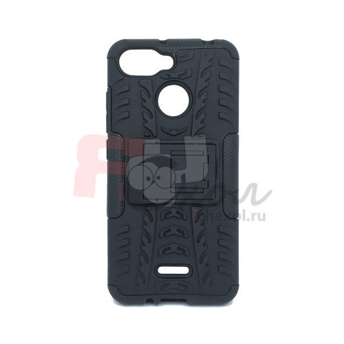 Чехол для Xiaomi Redmi 6 из ТПУ-резины и пластика противоударный черный
