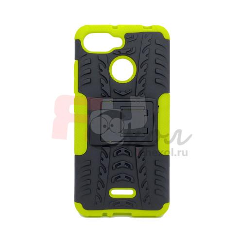 Чехол для Xiaomi Redmi 6 из ТПУ-резины и пластика противоударный зеленый