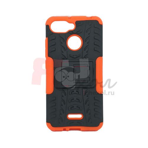 Чехол для Xiaomi Redmi 6 из ТПУ-резины и пластика противоударный оранжевый