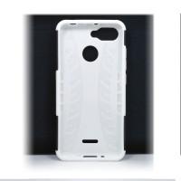 Чехол для Xiaomi Redmi 6 из ТПУ-резины и пластика противоударный белый