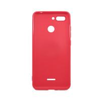 Чехол-бампер для Xiaomi Redmi 6 из ТПУ-резины с  кольцом красный