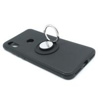 Чехол-бампер для Xiaomi Redmi 6 Pro / Mi A2 lite  из ТПУ-резины с  кольцом черный