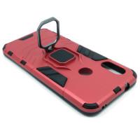 Гибридный бампер Xiaomi Redmi 6 Pro / Mi A2 lite из ТПУ и пластика с кольцом-подставкой красный