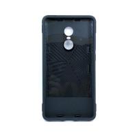 Чехол для Xiaomi Redmi Note 4X из ТПУ и пластика с кольцом черный
