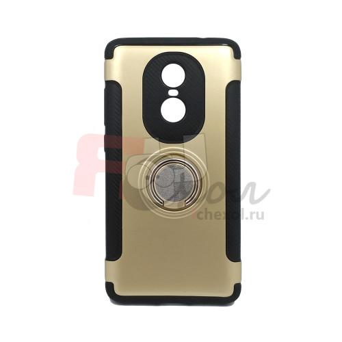 Чехол для Xiaomi Redmi Note 4X из ТПУ и пластика с кольцом  золото